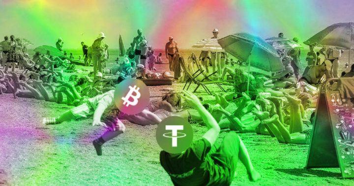 apríl, tether, stablecoin, pláž, pračka, konec, bitcoin