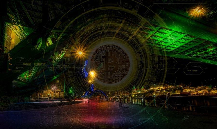 Bitcoin, most, voda, cesta, krása, barva, zelený, barevný, levný, architektura, světla