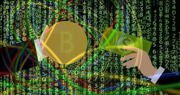 investice, pozdě, bitcoin, ruka, peníze, nákup, matrix