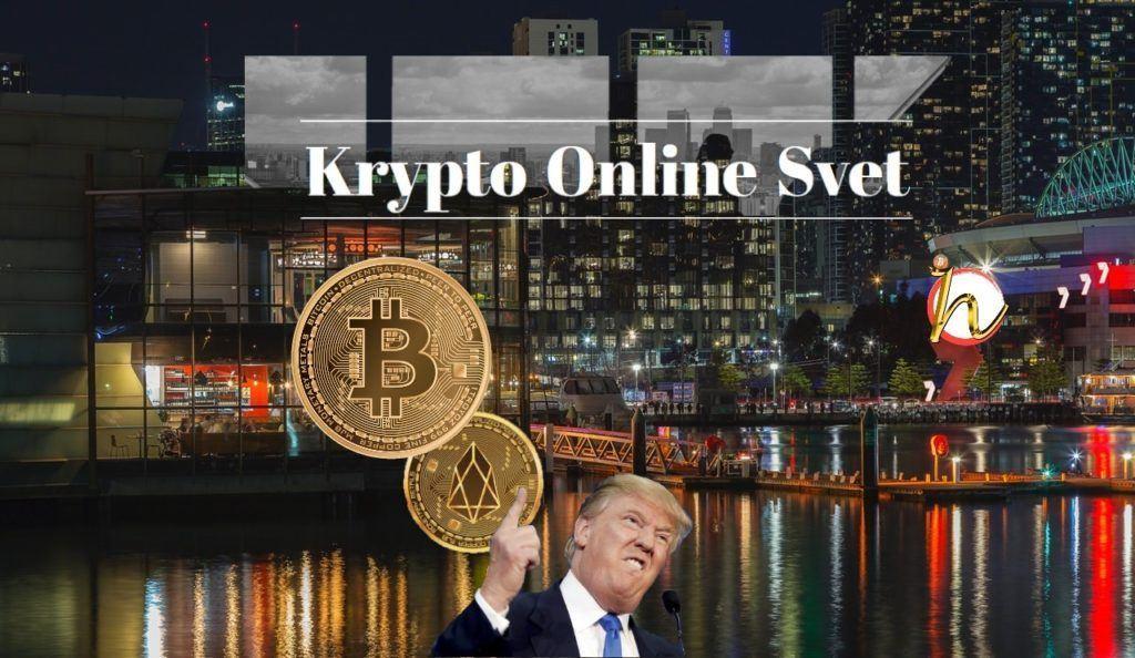 Trump. EOS, Bitcoin, kryptoměny, crypto, krypto online svet, město, Hodler, Kryptohodler,