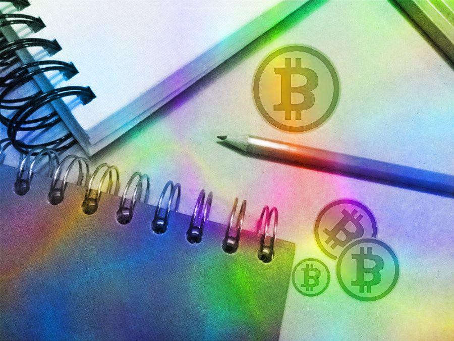 bitcoin, portfolio, kryptoměny, bitcoinovej kanál, hodler, sešit, mince