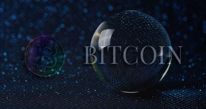 křišťálová koule, bitcoin, btc, mince, kulatý