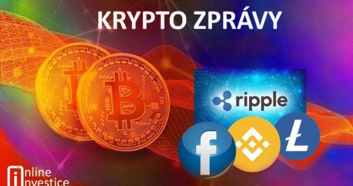 zprávy, aktuality, novinky, bitcoin, online investice, ripple, litecoin, binance, kryptozprávy