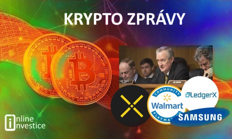 kryptozprávy, bitcoin, samsung, ledgerx, zastavit