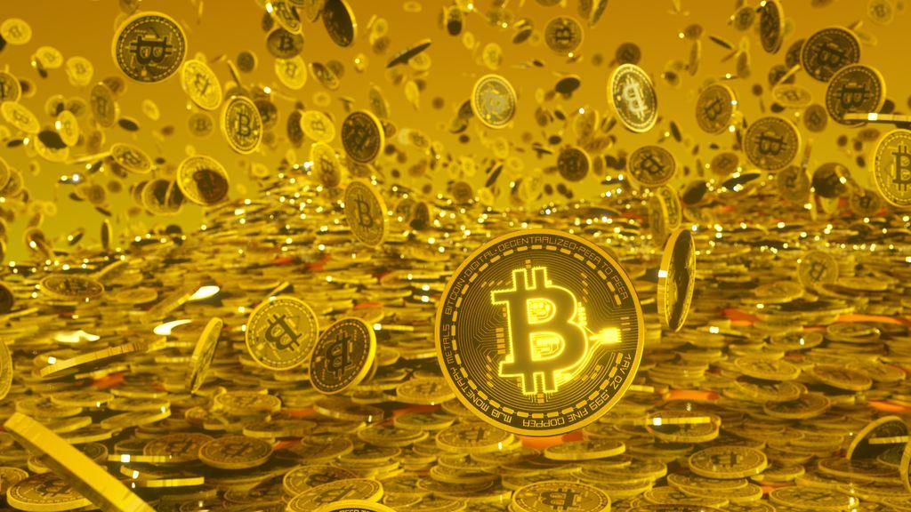 bitcoin, zlato, gold, kryptoměny, crypto, zlatý déšť