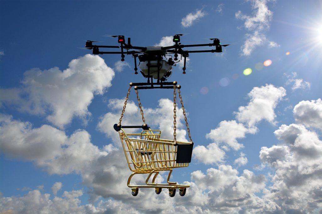 drony, nákupní košík, dron, news, blockchain