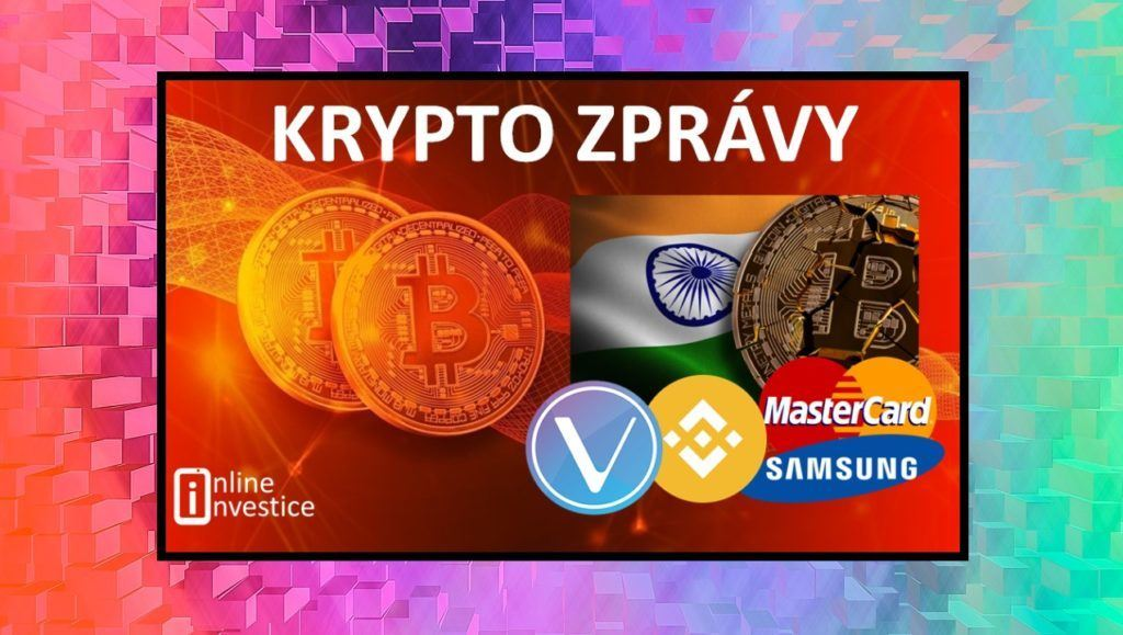 kryptozprávy, kryptoměny, bitcoin, zprávy, investice, novinky, mastercard, samsung, giganti, víno, Indie
