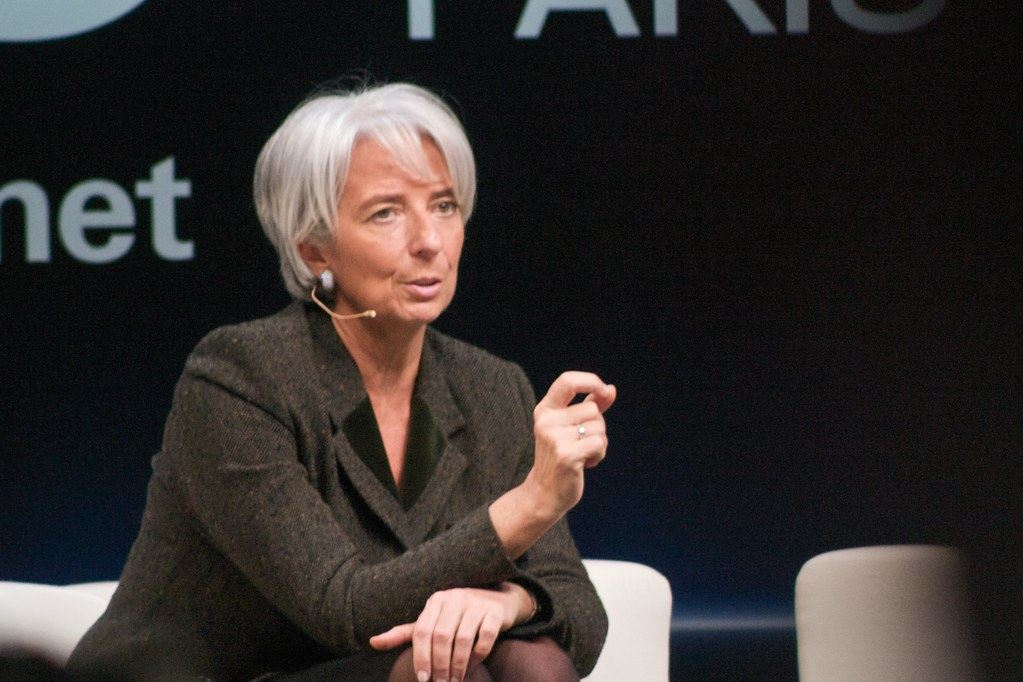 Christine Lagardeová, předsedkyně, MMF