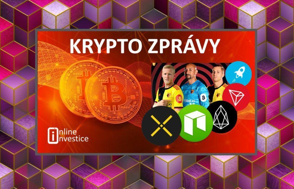 krypto, zpravy, bitcoin, neo, kryptoměny, pundix, eos, tron, xlm, fotbal, kryptozprávy