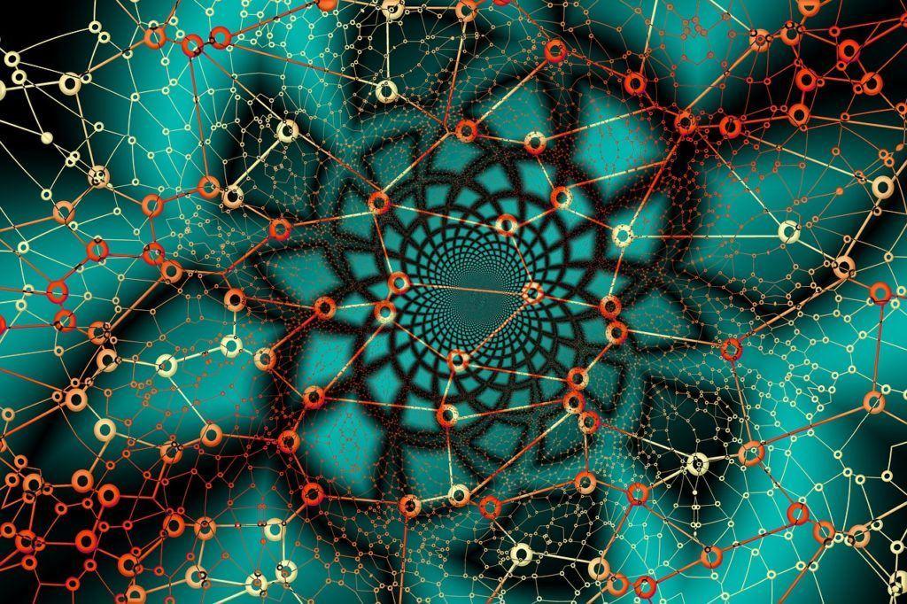 síť, příjem, tron, univerzální, abstraktní, krypto