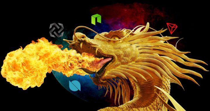 čínské, kryptoměny, rostou, pumpa, drak, Čína