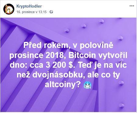 Facebookovinky 2 , dno, ath, Bitcoin, altcoiny