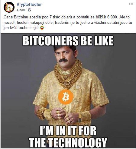 Facebookovinky 2 , technologie, cena, Bitcoin, bitcoiners