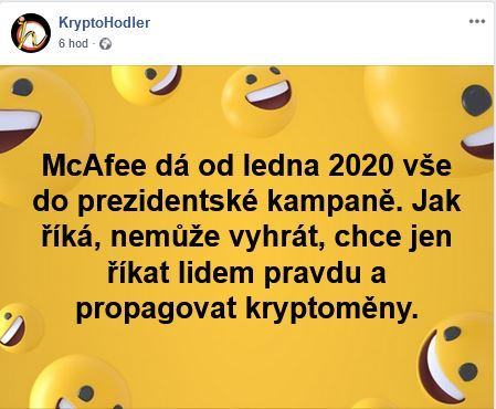 John McAfee, kandidát na prezidenta, vote, prezident, kampaň
