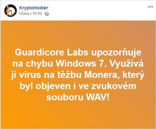 win7, windows 7, hack, monero, miner, kryptominer, nebezpečí