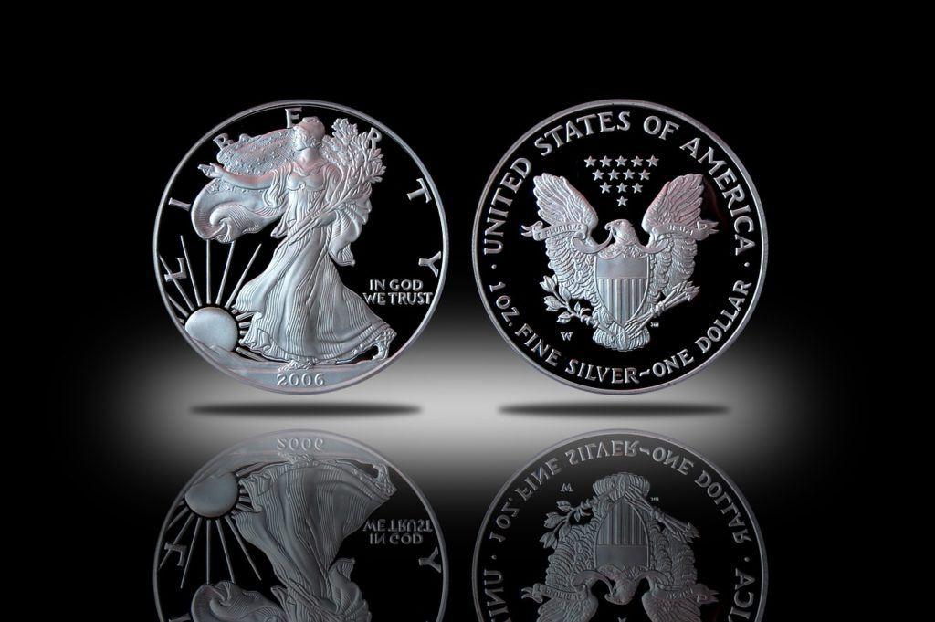 stříbro, stříbrná, mince, silver, unce, oz, investice