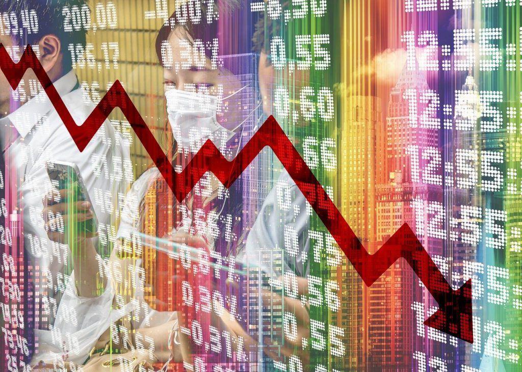 krize, koronavirus, recese, pád, propad, ekonomika, trhy, akcie, svět