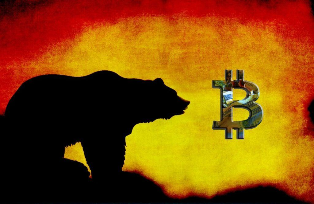propad, medvěd, padá, bitcoin