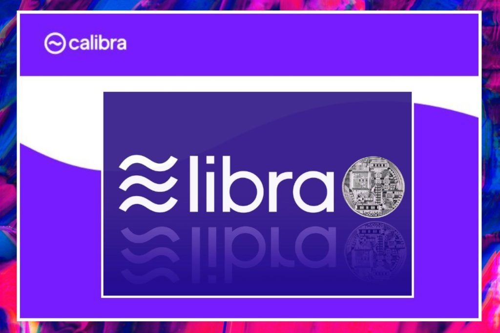 Libra, calibra, logo, facebook, digitální, stablecoin, fialová, rebranding