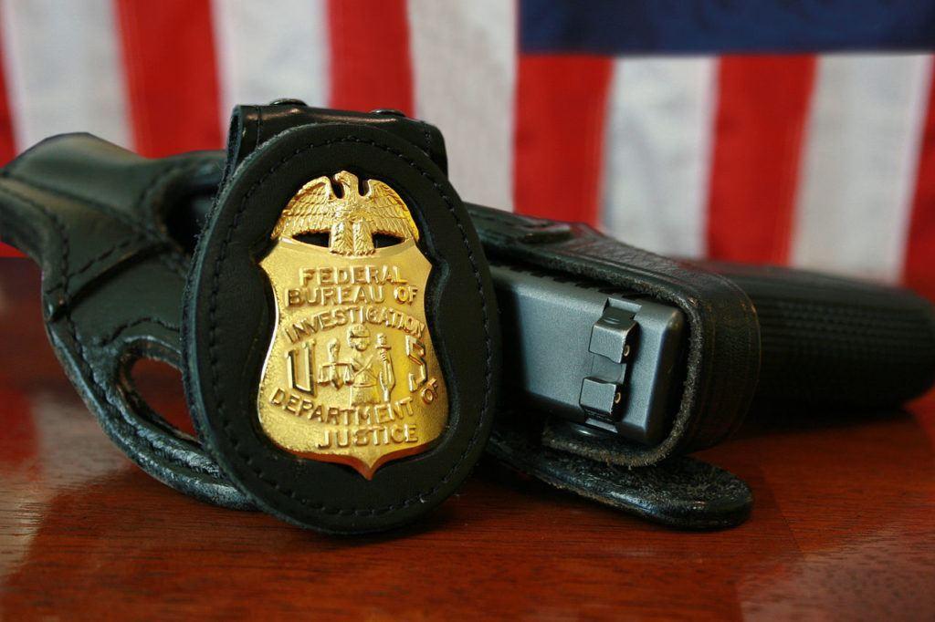 FBI, POLICIE, ODZNAK, ZATYKAČ, USA