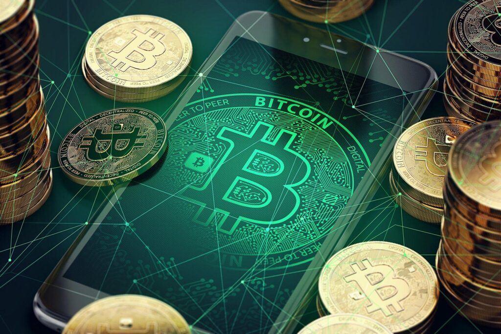 pasivní příjem, btc, bitcoin, mobil, green