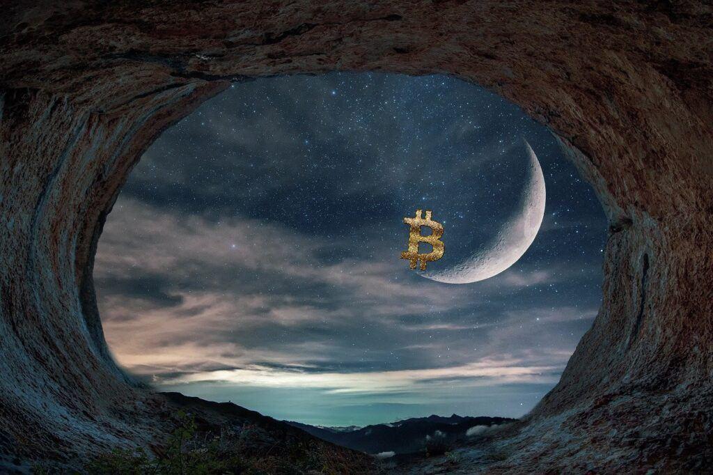 Bitcoin, BTC, MĚSÍC, STRATEGII, moon