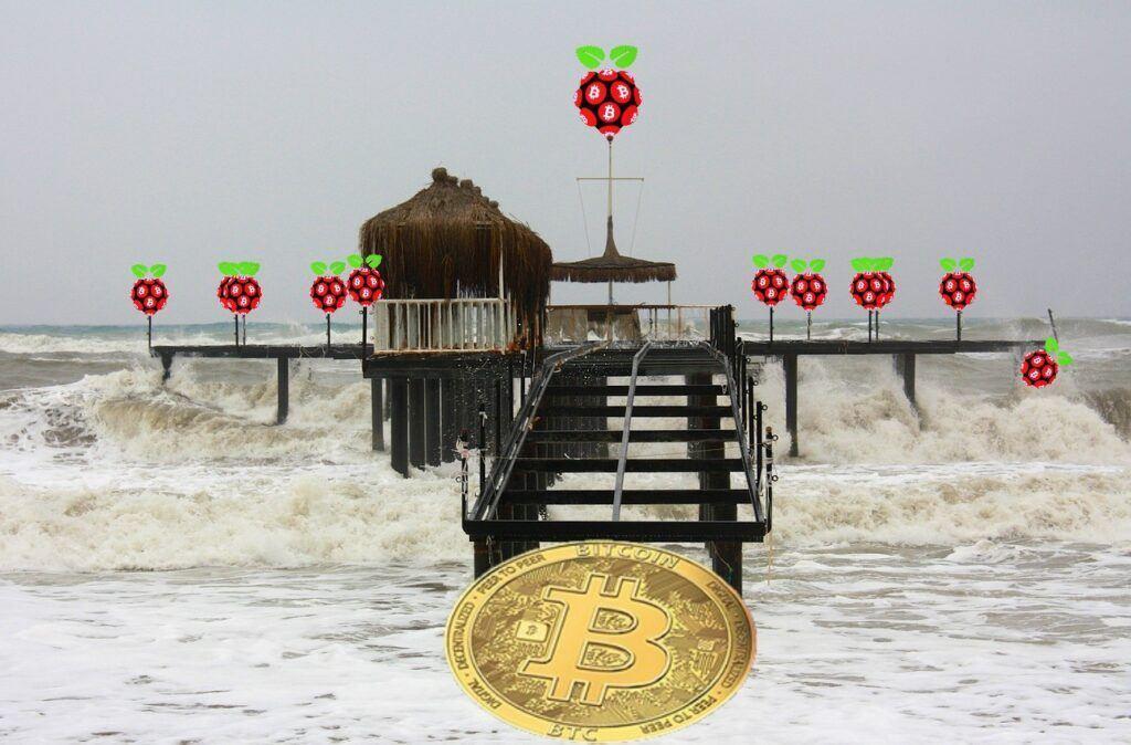 Square, btc, bitcoin, tsunami, příliv, vlna, kryptomarket, moře