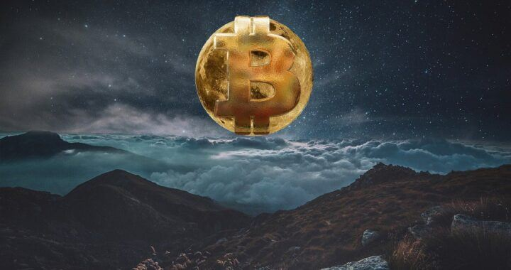Bitcoin, měsíc, moon, btc