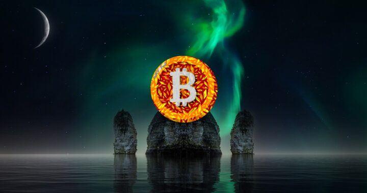 Bitcoin, BTC, space, vesmír, skály, head shoulders, moon, moře, temný, dark