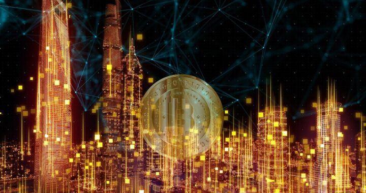 Bitcoin, btc, krypto, digitální, digital, město, city, mince btc, MicroStrategy, investice, moderní