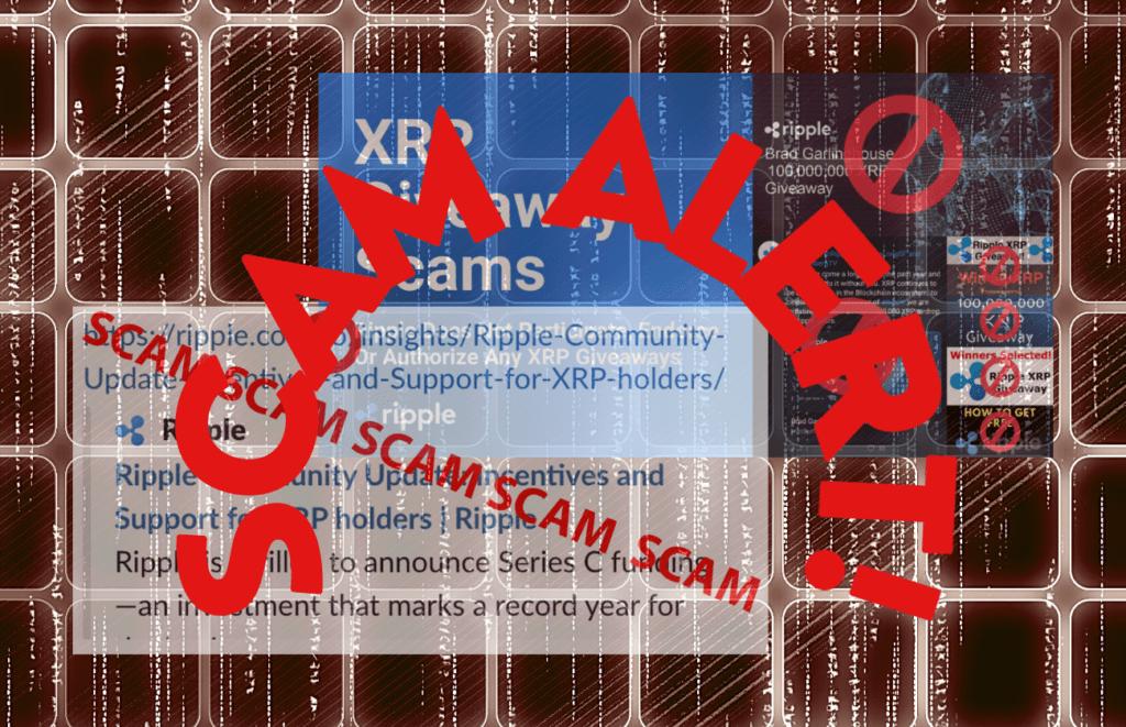 Scam alert, podvod, podvodníci, krádež, scam, xrp, pozor, upozornění