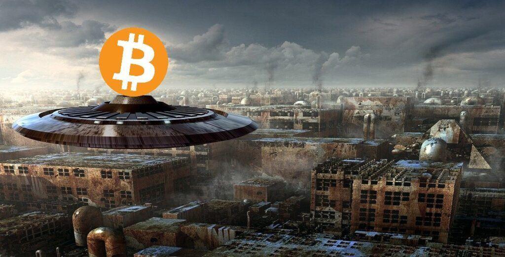 btc, bitcoin, ufo, vesmír, sci-fi