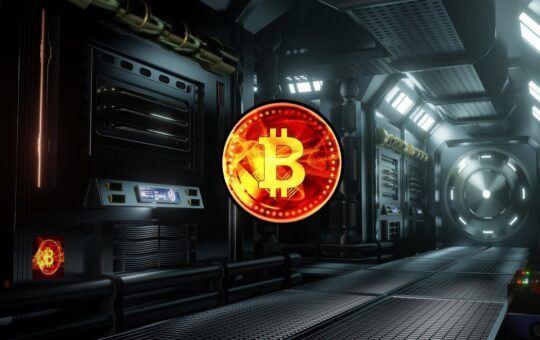 bitcoin, btc, sci-fi, Wyoming, vesmír, spaceship, temný,