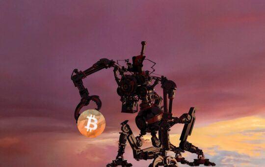Bitcoin, robot, btc, scifi, sci-fi, bot, futuristický, vesmír, pantera, robo