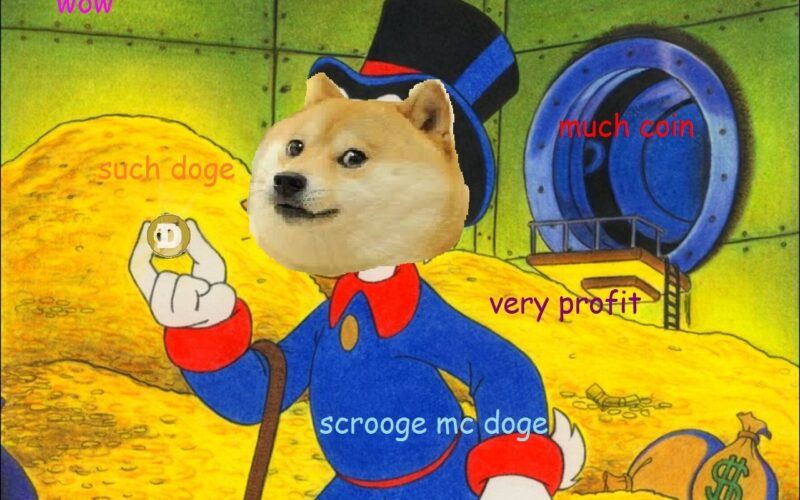 doge, dogecoin, skrblík, DOGECOINUzlato, meme, memecoin