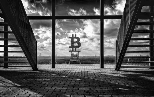 Bitcoin, btc, černobílý, uhlíkově neutrální, těžba