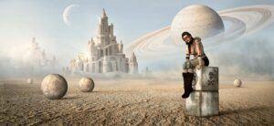 vesmír, žena, fantasy, planeta, scifi,