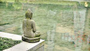 uklidnění, klid, Buddha, Čína, voda, pokojný